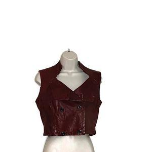Gary Graham Women's Sz 6 100% Leather Vest